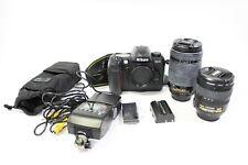 Nikon D100 DSLR Camera w/ NIKKOR ED AF-S 24-85 1:3.5-4.5 & AF 70-300 1:4-5.6 nc