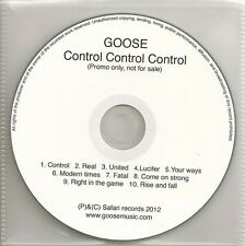 GOOSE CONTROL CONTROL CONTROL +  WHAT YOU NEED  2012 & 2016  UK ONLY PROMO CDS