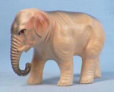 Vintage Elephant Celluloid Toy Tan Gray Christmas Putz Decoration Train Display