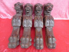 4 Beautiful, Old Carvings oak __ Lions __ Table Legs _