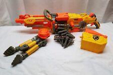 Nerf Gun N-Strike Vulcan EBF-25 LOT Tripod Belt Ex Barrel w/ 24 Darts Full Auto