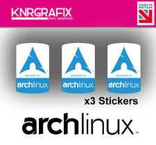 KNR7721 3x Arch Linux Sticker Decal Badge PC Repair