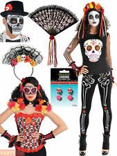 Ladies Mens Day Of The Dead Halloween Mexican Fancy Dress Costume Accessory
