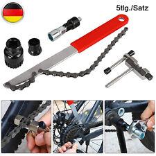 5 tlg Fahrrad Kassettenabzieher Zahnkranzabzieher Kettenpeitsche Werkzeug MTB DE