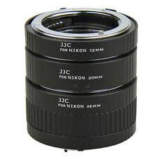 Macro Extension Lens Ring Mount Tube Kit Set for Nikon F-Mount Camera Photo