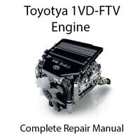 Toyota 1VD-FTV V8 4.5L Diesel Single Turbo Engine Repair Manual Workshop Service