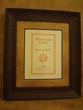 "VINTAGE TEXAS A&M COLLEGE FOOTBALL POSTER  FRAMED ""A&M VS MISSOURI"" NOV. 1916"