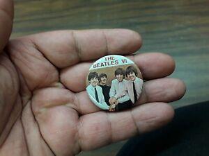 vintage the beatles vi lapel pin