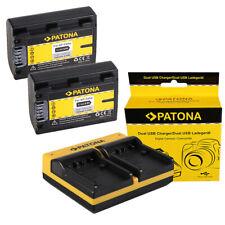2x Batteria Patona + caricabatteria USB doppio per Sony HDR-HC3,HDR-HC3E,HDR-HC5