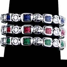 3-RING COMBO #2_GEOMETRIC CZ ETERNITY BAND RINGS_SZ-3_or TOE RINGS__925 SILVER