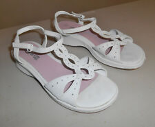 SMARTFIT Girls White Wedge Sandals, Size 3.5  3 1/2 - PreOwned
