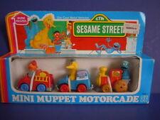 VINTAGE SESAME STREET HASBRO 1982 MINI MUPPET MOTORCADE DIE-CAST METAL VEHICLES