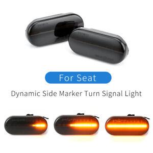 Led Dynamic Side Marker Turn Signal Light For Seat Leon Ibiza Toledo Alhambra