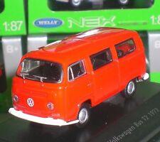 WELLY NEX MODELS VOLKSWAGEN VW BUS T2 1972 DIECAST PC BOX ECHELLE 1:87 NEW OVP