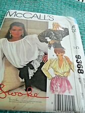 Vtg.1984 McCALL'S #9368 - LADIES DAY or EVENING BLOUSE Brooke Shields sz 6 uncut