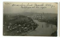 RPPC Aerial NEWELL & CALIFORNIA PA Washington Fayette County Real Photo Postcard