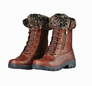 Dublin Bourne Lace Boots Side Zip Waterproof Yard Country Walking Boots SALE
