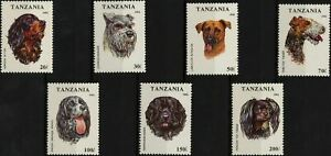 Tanzania Dog Domestic Animal Canis Canine Serie Set of 4 Stamps Mint NH