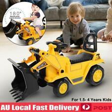 Children Kids Ride on Bulldozer Toy Digger Truck Push Along Car Gifts C