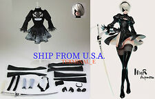1/6 Nier Automata YoRHa No.2 Type B Head Costume Set For Phicen S10D ❶US SELLER❶
