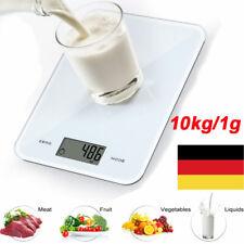 10kg/1g Flache Haushaltwaage Küchenwaage Präzisionwaage Feinwage Grammwaage Weiß
