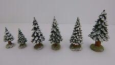 Dept 56 Village Snowy Evergreens Set of 6 Small Trees #52612 D56 DV CIC NEV
