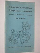 A Description of US Postage Stamps - Vintage 1938 US Post Office Dept Booklet