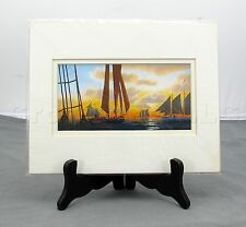 Robert Johnson Starboard View American Schooner Boat Sunset Painting 8x10 Print