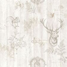 STAG WOOD PANEL WALLPAPER CREAM / ROSE GOLD - HOLDEN 90092