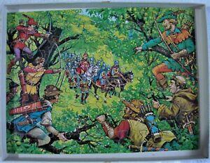 Robin Hood - Ambush Victory Hand Cut Wooden Jigsaw 100 Pieces  1978 Complete
