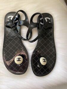 Chanel Plastic Sandals - Size 38