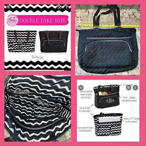 Thirty One DOUBLE TAKE TOTE Work Bag  Diaper Bag, Thermal Pocket Reversible $150
