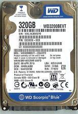 WESTERN DIGITAL WD3200BEVT-22A23T0 320GB SATA HARD DRIVE  DCM: HHBVJABB