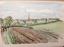 Thaxted From The Fields,  Essex, 1947 Vintage Print