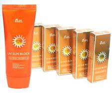 EKEL/Aloe & Vitamin E Sun Block Cream SPF50 PA+++ 70ml X 5EA / Waterproof /KOREA