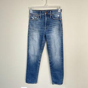 Madewell The Classic Straight Jean Medium Wash Straight Leg Jeans Size 25