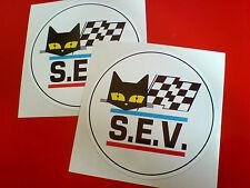 SEV MARCHAL Circular Retro Vintage Car Stickers Decals 2 off 90mm