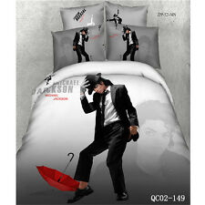 Michael Jackson Queen Size Bed Quilt/Doona/Duvet Cover Set 100% Cotton 4Pcs