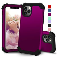 For iPhone 12 Pro Max Mini 11 Pro Max Shockproof Rugged Dual Hybrid Case Cover