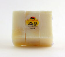 Emu Oil Soap Hand Made Natural Moisturising set of 3