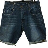 Gstar Raw Denim Mens Size 29 Tapered Jean Shorts GS01 Originals