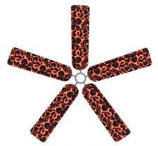 Ceiling Fan Blade FABRIC Cover HOT ROD FLAMES mancave decor 5 decorative pcs