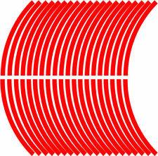 9mm wheel rim tape striping stripes stickers RED..(38 pieces/9 per wheel)