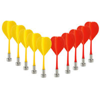 10pcs Magnetic Bullseye Target Game Plastic Flat Tips Darts Double Sided Dart