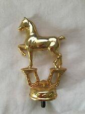 Vintage Gold/Brass Hackney Horse Equine Trophy Topper