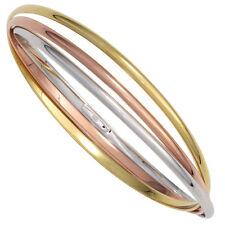 Bracciale Bracciale Argento 925 Tre-Colori Tricolor Placcato Oro
