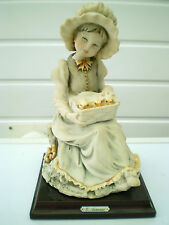 Capodimonte Figure : G Armani : Young Farm Girl with Chicks : Italy 1982
