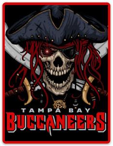 Tampa Bay Buccaneers Wicked Pirate & Cross Swords Logo Type MAGNET
