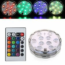 Swimming Pool Spa Bath LED Light Remote Control Waterproof Underwater Battery