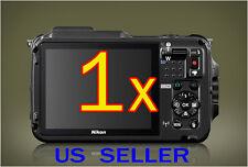 1x Nikon Coolpix AW120 Camera Clear LCD Screen Protector Guard Shield Film
